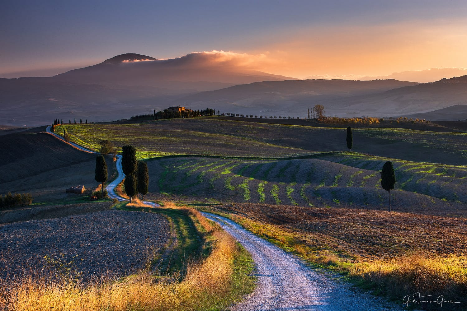 the gladiator road in tuscany